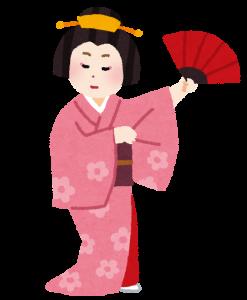 日本舞踊 フリー素材