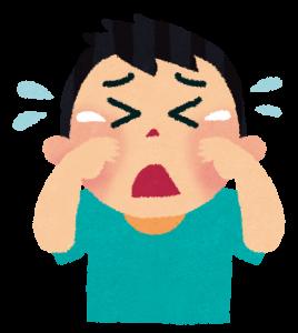 泣く フリー素材